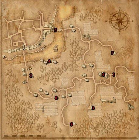 Ведьмак прохождение Глава 1: Хвост саламандры - карта