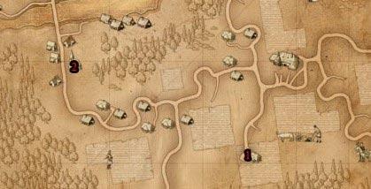 Ведьмак прохождение Глава1: Таинственный сад - карта