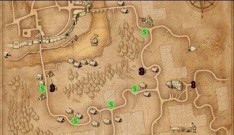 Ведьмак прохождение: О людях и монстрах - карта